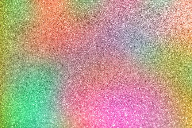 Kleurrijke bokeh achtergrond van defocused glinsterende lichten. regenboog van lichten.