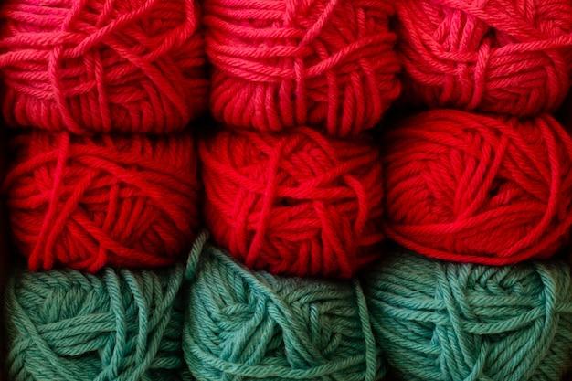 Kleurrijke breiwolwol
