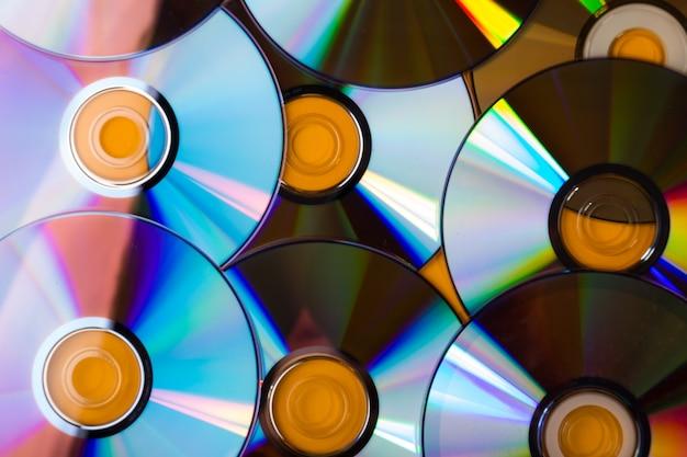 Kleurrijke cd-stapelachtergrond