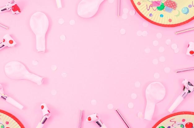 Kleurrijke decoratieve verjaardagselementen