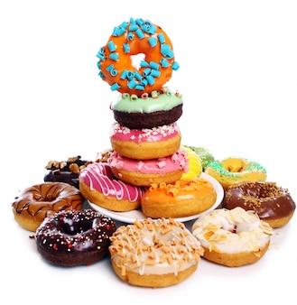 Kleurrijke en smakelijke donuts