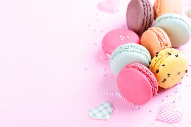 Kleurrijke franse macarons