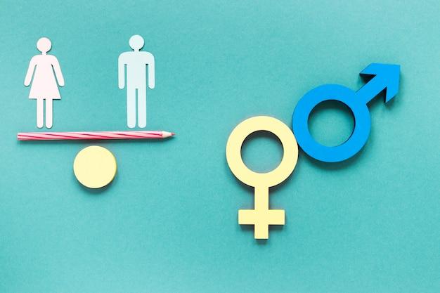 Kleurrijke gelijke rechten symbolen concept