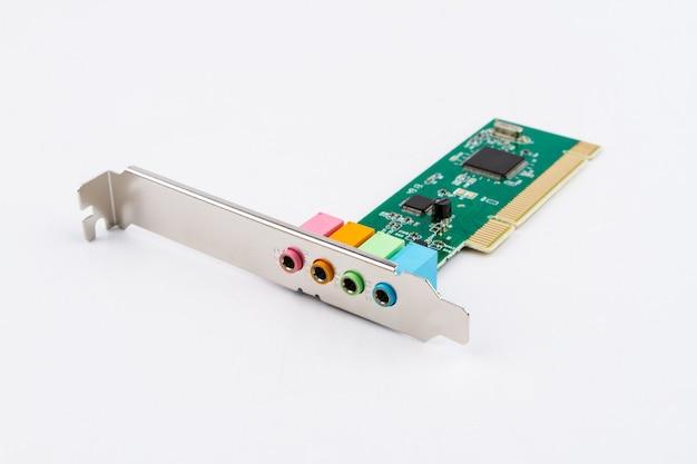 Kleurrijke geluidskaart voor computer