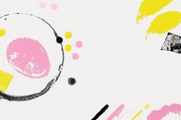 Kleurrijke gestempelde achtergrond met abstracte diy-blokafdrukken