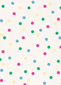 Kleurrijke gestippelde stip