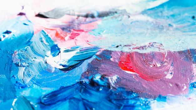 Kleurrijke geweven van olieverfschilderij abstracte achtergrond