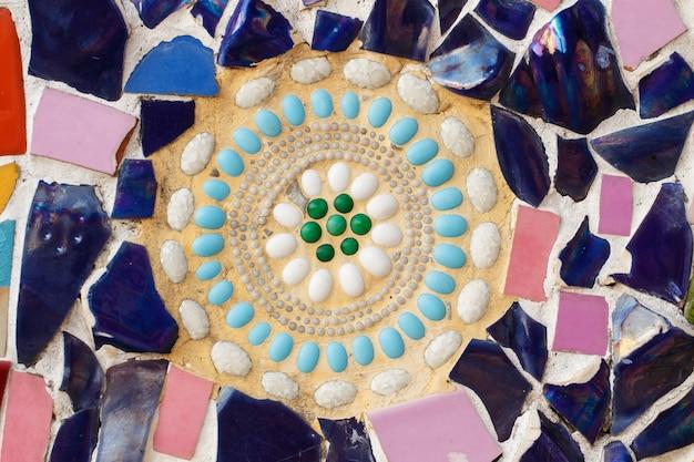 Kleurrijke glas en tegelmuurtextuurachtergrond