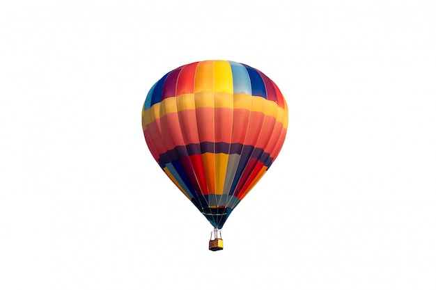 Kleurrijke heteluchtballon vliegen