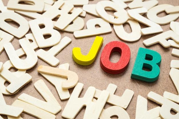 Kleurrijke job-formulering in hoofdletter