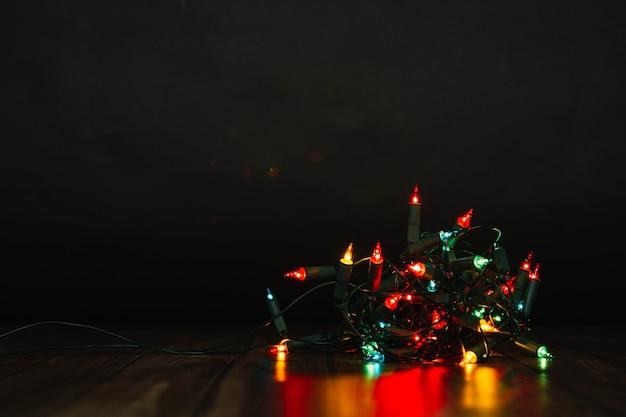 Kleurrijke kerstverlichting