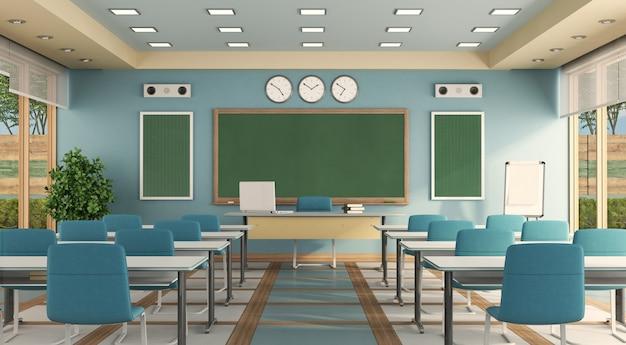 Kleurrijke klas zonder student