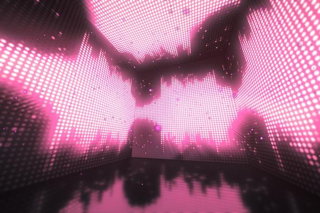 Kleurrijke kubus equalizer achtergrond. ontwerp 3d-afbeelding