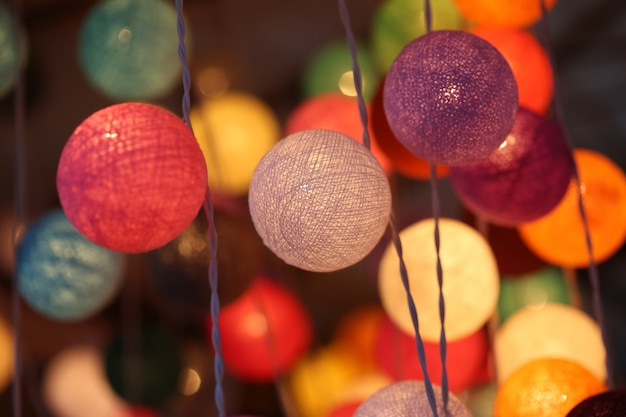 Kleurrijke lichte lantaarn
