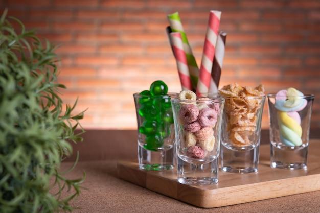 Kleurrijke lolly en snoep