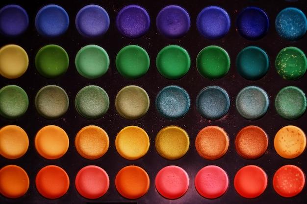 Kleurrijke make-upreeks oogschaduwwen