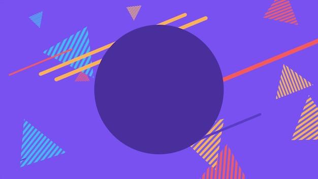 Kleurrijke memphis-achtergrond, stippen abstracte geometrische vormen