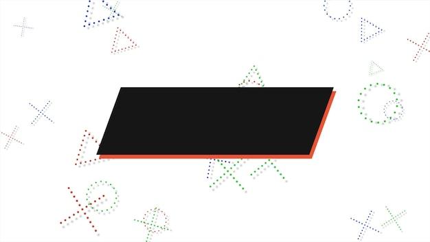 Kleurrijke memphis achtergrond, vierkanten abstracte geometrische vormen. elegante en luxe dynamische stijl voor zakelijke en zakelijke sjabloon, 3d-afbeelding