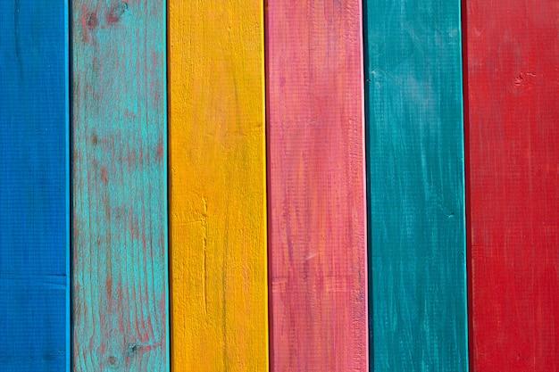 Kleurrijke mexicaanse strepen geschilderd houtstructuur
