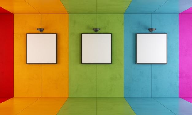 Kleurrijke moderne kunstgalerie