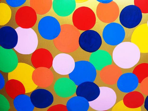 Kleurrijke multikleuren abstracte achtergrond en textuur van het cirkelolieverfschilderij