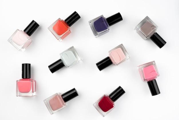 Kleurrijke nagellakcollectie