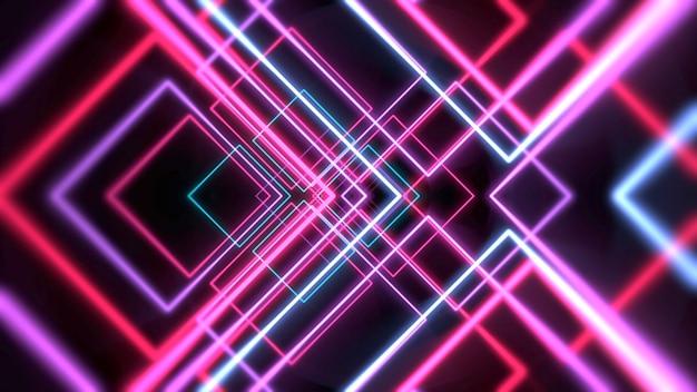 Kleurrijke neon rode lijnen abstracte achtergrond. elegante en luxe dynamische clubstijl 3d illustratie