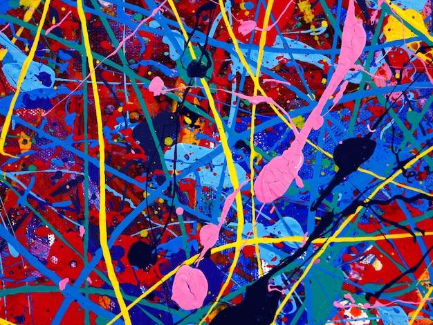 Kleurrijke olieverf multi kleuren abstracte achtergrond.
