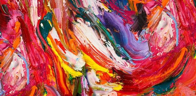 Kleurrijke olieverf penseelstreek abstracte textuur als achtergrond.