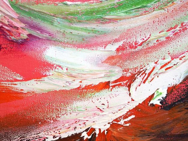 Kleurrijke olieverfmotie abstracte achtergrond en textuur.