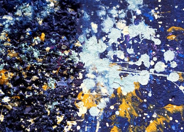 Kleurrijke olieverfschilderij abstracte achtergrond en textuur.