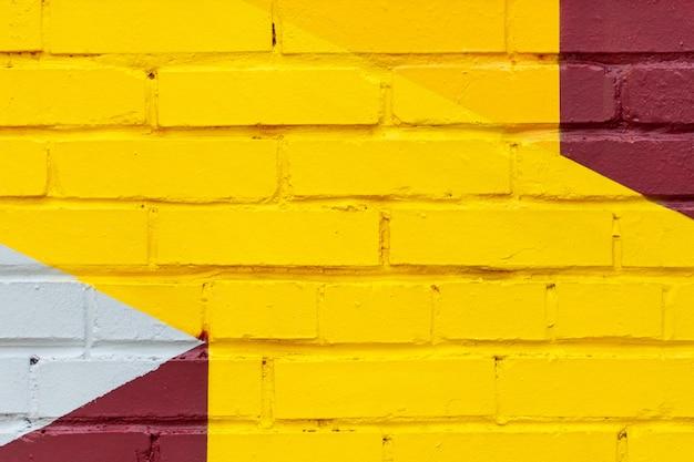 Kleurrijke oude bakstenen muur achtergrond.