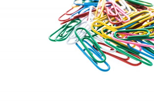 Kleurrijke paperclip