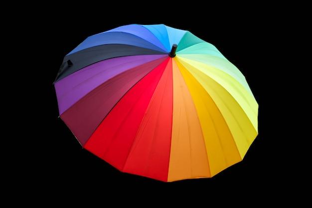 Kleurrijke paraplu op zwart