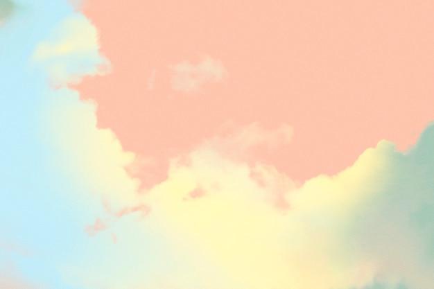 Kleurrijke pastel wolk getextureerde achtergrond