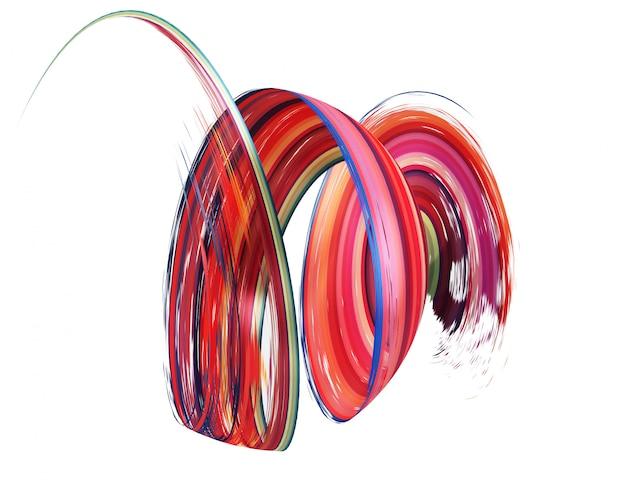 Kleurrijke penseelstreek