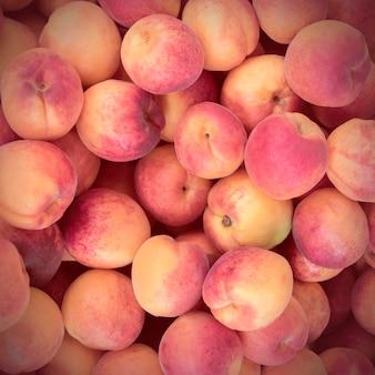 Kleurrijke perzik