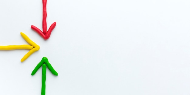 Kleurrijke pijlen met kopie ruimte