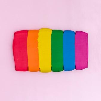 Kleurrijke plasticine sticks