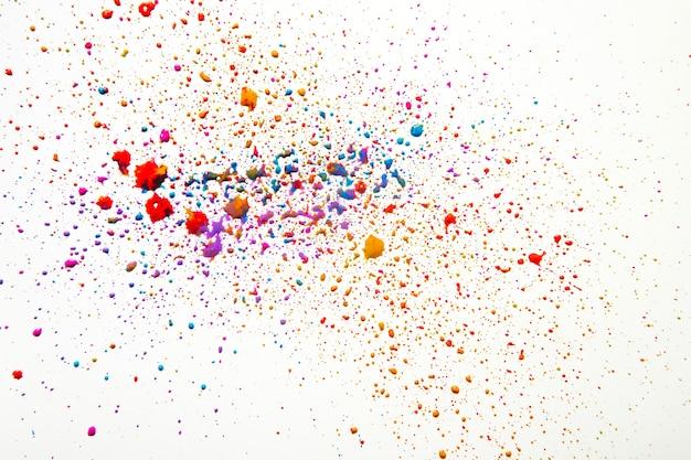 Kleurrijke puinhoop van aquarel druppels