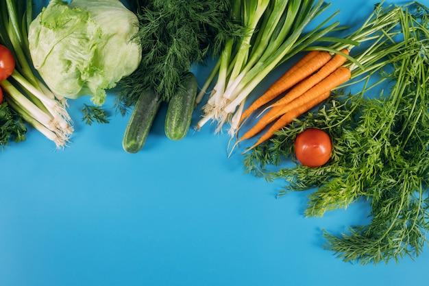 Kleurrijke rauwe groenten uit de tuin.