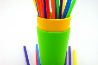 Kleurrijke rietjes, kleuren