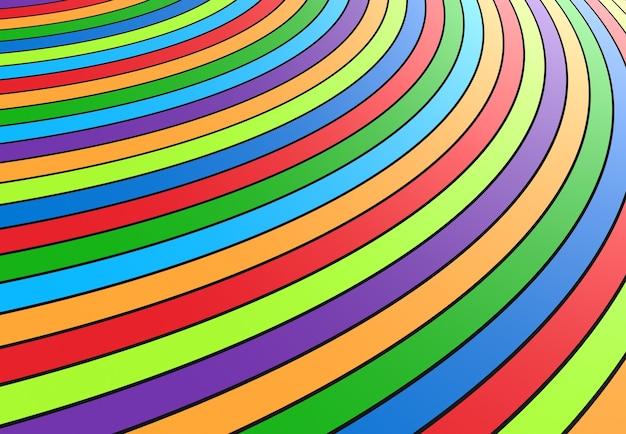 Kleurrijke ronde strepen als een regenboogachtergrond