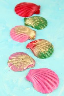 Kleurrijke schelpen