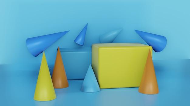 Kleurrijke standaard voor productshowcase