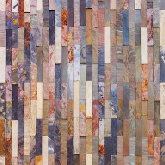 Kleurrijke stenen muurtegels