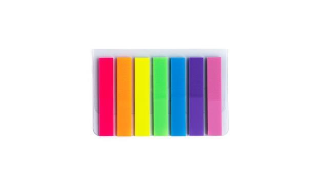 Kleurrijke stickers geïsoleerd. bladwijzers.