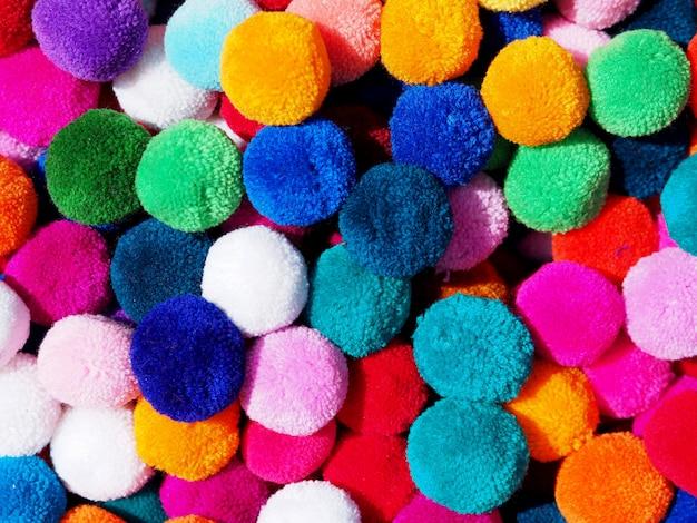 Kleurrijke stof bal achtergrond.