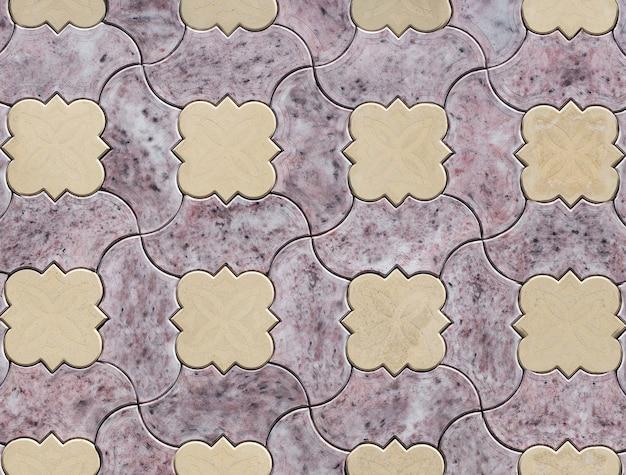 Kleurrijke textuur van een stenen muur
