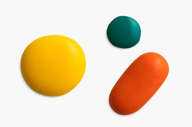 Kleurrijke toon acrylverf klodder